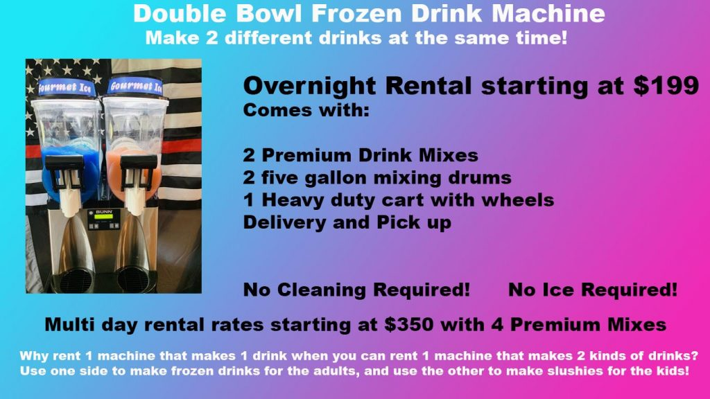 Double Bowl Frozen Drink Machine
