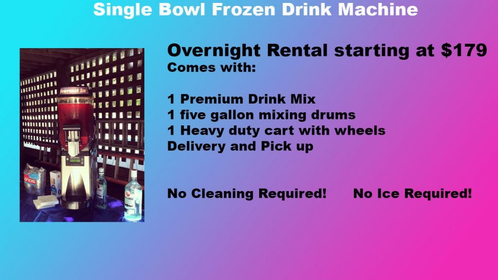 Single Bowl Frozen Drink Machine